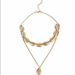 Costume Gold Shell Necklace